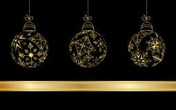 Illustration Set Christmas Balls Royalty Free Stock Photos