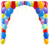 An illustration of a set of colourful balloons Royalty Free Stock Photo