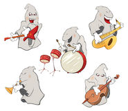 Illustration of a set of cute ghosts Stock Image
