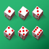 Illustration Set of dices Royalty Free Stock Photo