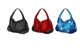 Illustration set of different colored hobo bags Stock Image