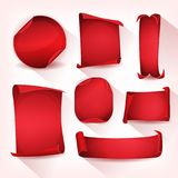 Red Circus Parchment Scroll Set vector illustration