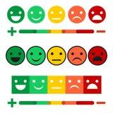 Illustration Set of feedback concept design, emotions scale background and banner. Smile, anger, chagrin, joy, insult. Set of feedback concept design, emotions vector illustration