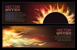 Illustration of set of fire flame banner. Vector illustration of set of fire flame banner Stock Images