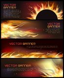 Illustration of set of fire flame banner. Vector illustration of set of fire flame banner Royalty Free Stock Photo