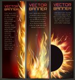 Illustration of set of fire flame banner. Vector illustration of set of fire flame banner Royalty Free Stock Photography