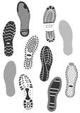Illustration set of footprints. Royalty Free Stock Photos