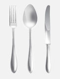 Fork spoon and knife Stock Photos