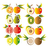 Illustration set of fruit Stock Photo