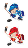 Set funny boy hockey Stock Photo