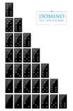 Illustration of set for a game of dominoes Royalty Free Stock Photos