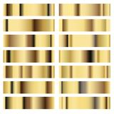 Illustration set golden texture Metal Background. Royalty Free Stock Photo