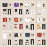 Illustration set of men and professions Stock Photos