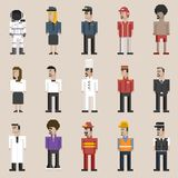 Illustration set of men and professions Royalty Free Stock Photography