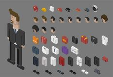 Illustration set of men and professions Royalty Free Stock Photos