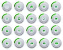 Green buttons. Illustration with set of modern buttons Stock Image
