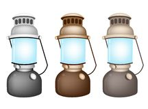 An Illustration Set of Old Kerosene Lamp Stock Image