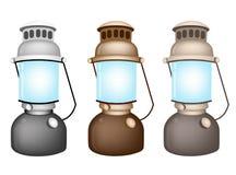 An Illustration Set of Old Kerosene Lamp Stock Image