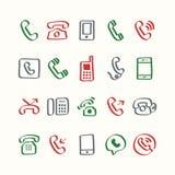 Illustration set of phone icons Stock Images