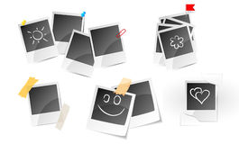 Illustration of set a photo frame Royalty Free Stock Images