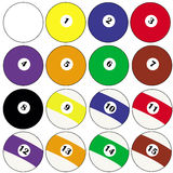 Pool balls. Illustration of a set of pool balls Royalty Free Stock Image
