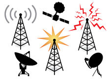 Illustration with a set of radio de Royalty Free Stock Image