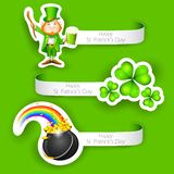 Saint Patrick's Day Label Stock Images