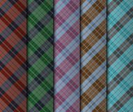Illustration of set of seamless colorful stripes Royalty Free Stock Images