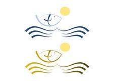 Illustration set: Simple fish icon Stock Photos
