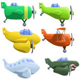 Illustration of set of six different planes Royalty Free Stock Image