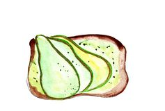 Illustration set of sketching sandwiches with variety of fillings, different composition and  ingredients. Stock Image