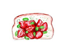 Illustration set of sketching sandwiches with variety of fillings, different composition and  ingredients. Royalty Free Stock Photo