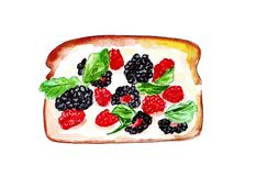 Illustration set of sketching sandwiches with variety of fillings, different composition and  ingredients. Royalty Free Stock Image