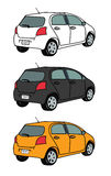 Illustration set of small car (ecocar or citycar) Royalty Free Stock Photography