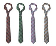 Illustration of set of ties Stock Image