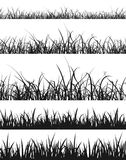 Grass And Lawn Silhouette Set Stock Images
