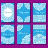 Illustration  set of vintage lace backgrounds. Illustration of set of vintage lace backgrounds Stock Images