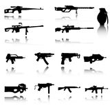 Illustration of Set of Weapons Stock Photo