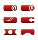 Illustration set of web elements. For design. Vector Royalty Free Stock Photo