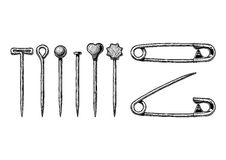 Illustration of Sewing pin Royalty Free Stock Image