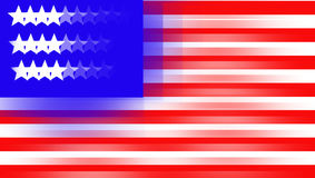 Illustration of a shaken USA flag. United States of America. Fuzzy flag of USA. Cartoon flag of USA Stock Photography