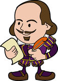 Illustration of Shakespeare Stock Photography