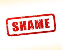 Shame red text stamp. Illustration of shame red text stamp Royalty Free Stock Photos