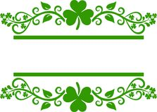 Shamrock border royalty free illustration
