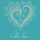 Illustration with shape of heart Royalty Free Stock Photography