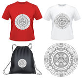 Illustration shape of t-shirt design. Geometric Shapes for T-Shirt Design, backpack design or use many other cloths Stock Photography