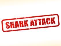 Shark attack text buffered. Illustration of shark attack text buffered on white background Stock Image