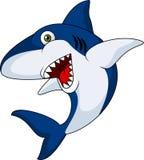 Shark cartoon. Illustration of shark cartoon with open mouth stock illustration