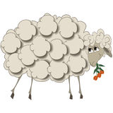 Illustration of a sheep with flowers for a calendar for 2015.  Royalty Free Stock Photo