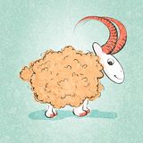 Illustration of the sheeps and lambs Royalty Free Stock Photos